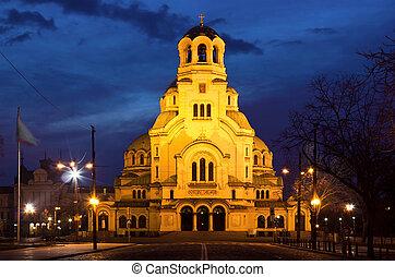 Cathedral church Saint Alexandar Nevsky in Sofia, Bulgaria...