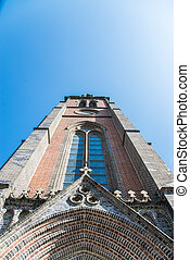 Cathedral church with blue sky