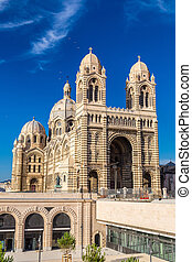 Cathedral de la Major in Marseille, France - MARSEILLE - ...