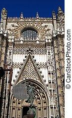 Cathedral entrance, Seville, Spain.