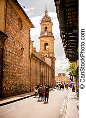 Cathedral in Bogota, Colombia. Candelaria