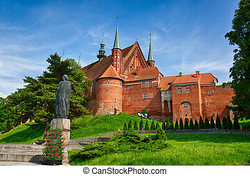 Cathedral in Frombork, a place where he worked Copernicus