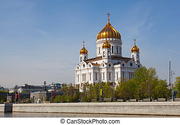 Cathedral In Honor Of Christ The Savior In Moscow, Russia