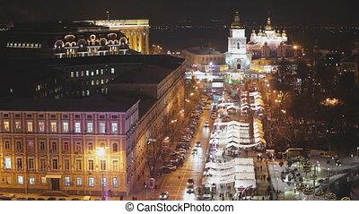 Cathedral in Kiev - Exterior of Sophia Cathedral in Kiev,...