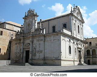 Cathedral in Lecce, Italy - The baroque cathedral in Lecce, ...