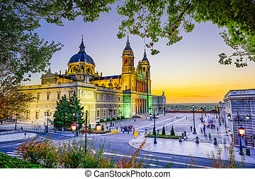 Cathedral in Madrid - Madrid, Spain at La Almudena Cathedral...