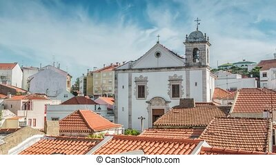 Cathedral in Odivelas, Portugal. Beautiful day view....