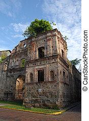 Cathedral in Panama city (Senora dea Asuncion) - wide angle...