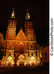 Cathedral in Prague in the night