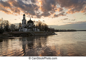 Cathedral in sunset time