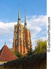 Cathedral in Wroclaw on Tum Island, Poland