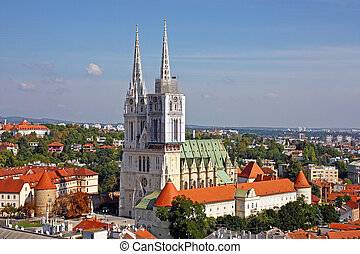 Cathedral in Zagreb, Croatia
