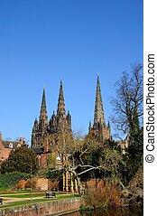 Cathedral, Lichfield, UK.