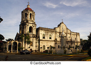 Cathedral - Morning and big Catholic cathedral in Sebu,...
