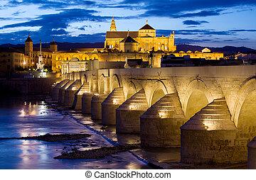 Cathedral Mosque and Roman Bridge in Cordoba - Roman Bridge ...
