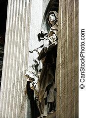 cathedral., nische, peter\'s, str., skulptur
