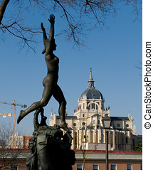 Cathedral of Almudena in Madrid. Spain