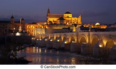 cathedral of Cordoba and bridge - Mosque-cathedral of...