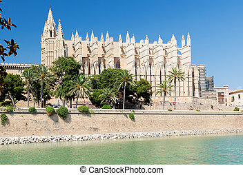 Cathedral of la Seu Majorca in Palma de Mallorca, Spain
