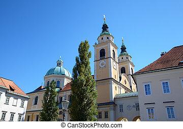 Cathedral of Ljubljana. Slovenia
