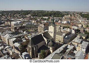 Cathedral of Lviv from the height