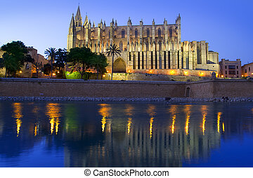 Cathedral of Majorca in Palma de Mallorca Balearic islands -...