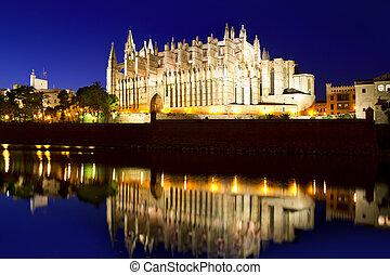Cathedral of Majorca in Palma de Mallorca Balearic islands -...