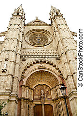 Cathedral of Majorca main door in Palma de Mallorca