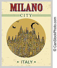 Cathedral of Milano poster - Cathedral of Milano, Italy in...