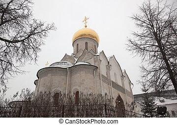 Cathedral of Nativity of Virgin in Savvino Storozhevsky monastery. Zvenigorod. Russia