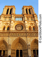 Notre Dame de Paris - Cathedral of Notre Dame de Paris in...