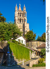 Cathedral of Notre Dame in Lausanne - Switzerland