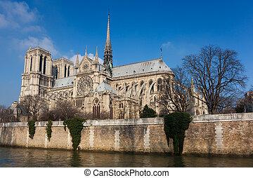 Cathedral of Notre Dame, Paris, Ile de France, France