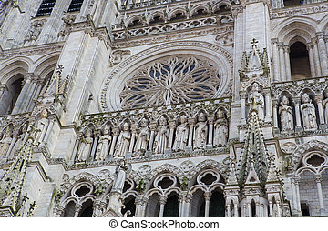 Cathedral of Our Lady of Amiens (French: Cathédrale Notre-Dame d'Amiens), or simply Amiens Cathedral, is a Roman Catholic cathedral in Amiens, Somme region, Picardy, France. This cathedral including all its statues were created in the 13th Century and photographed from a public standpoint, no ...