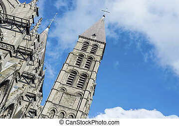 Cathedral of Our Lady of Tournai in Belgium - The mixed ...