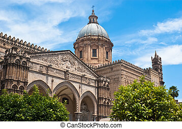 Cathedral of Palermo. Sicily. Italy - Detail of the...