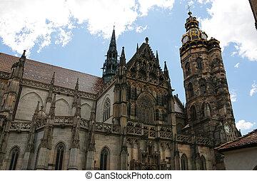 Cathedral of Saint Elizabeth in Kosice, Slovakia.