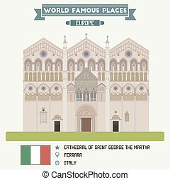 Cathedral of Saint George the Martyr. Ferrara, Italy