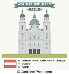 Cathedral of Saint Rupert and Saint Vergilius. Salzburg, Austria