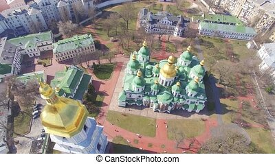 Cathedral of Saint Sophia aerial view.