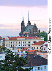 Cathedral of Saints Peter and Paul in Brno in the Czech ...