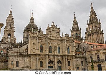 Cathedral of Santiago Azabacheria - Azabacheria Facade of...