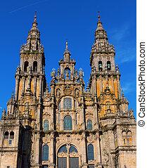 Cathedral of Santiago - Facade of Cathedral of Santiago de...