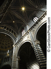 Cathedral of Siena interior.
