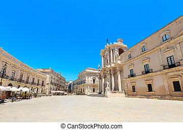 Cathedral of Siracusa, Sicily, Italy.