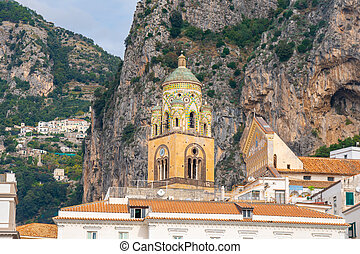 Cathedral of St Andrea. Amalfi Coast, south-western Italy, ...