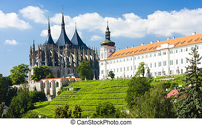 Cathedral of St. Barbara and Jesuit College, Kutna Hora,...