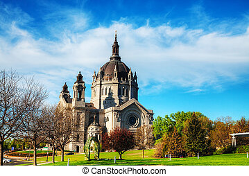 Cathedral of St. Paul, Minnesota in the morning