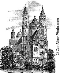 Cathedral of St Peter or Worms Cathedral in Worms Germany...