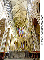 Cathedral of st. Vitus, Vaclav Indoor. Prague